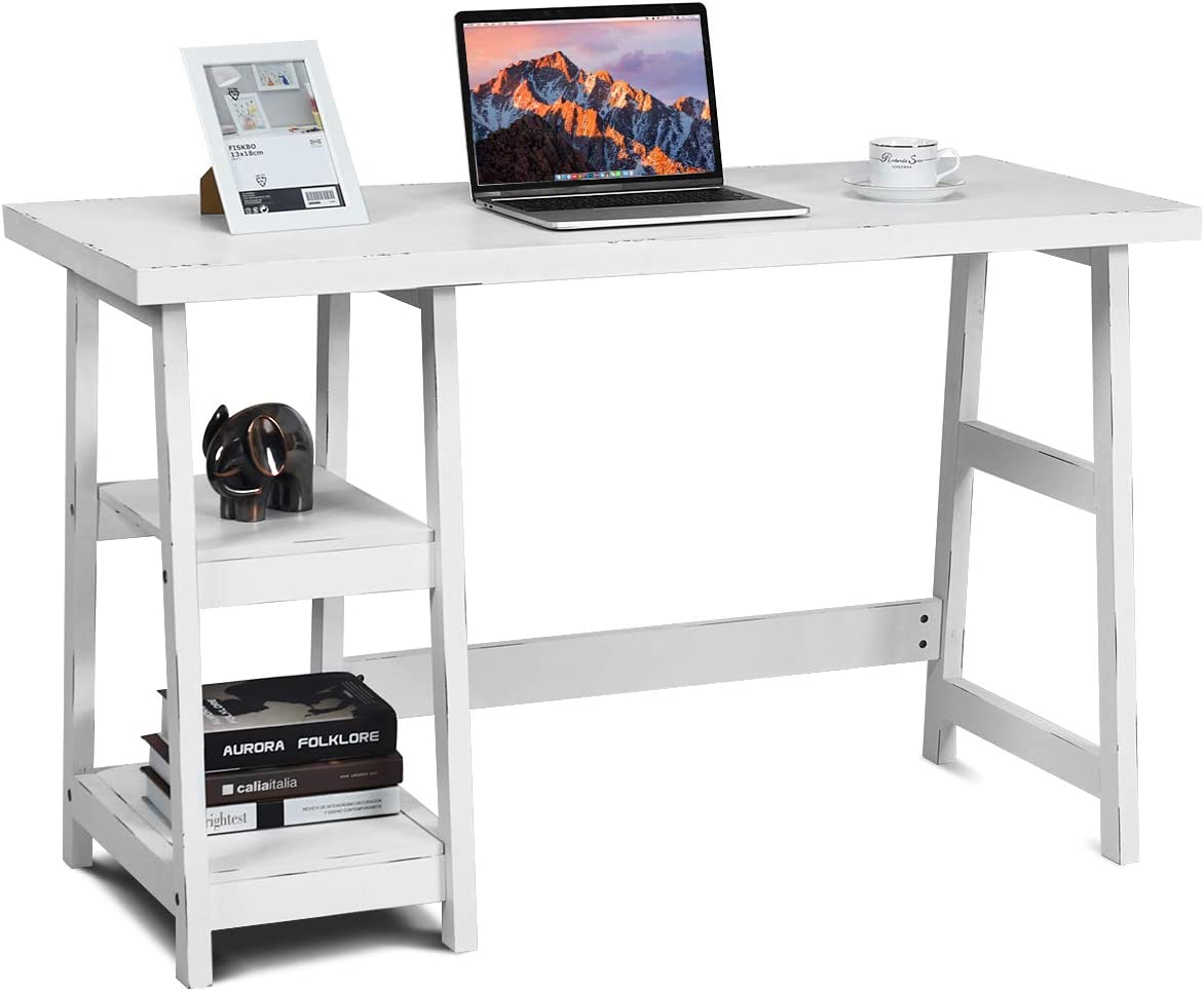 SD Studio Designs 10095 Futura Station with Folding Shelf Top Adjustable Drafting Craft Drawing Hobby Table Writing Studio Desk with Drawer, 35.5 W x 23.75 D, Silver Blue Glass