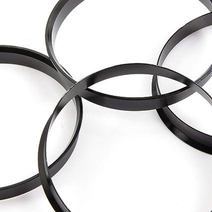 Anladia 4 Set Felgen Felge Aluminium Zentrierringe Im Set 74 1 Mm 72 6 Mm Alu Ringe Schwarz Ersatz Auto