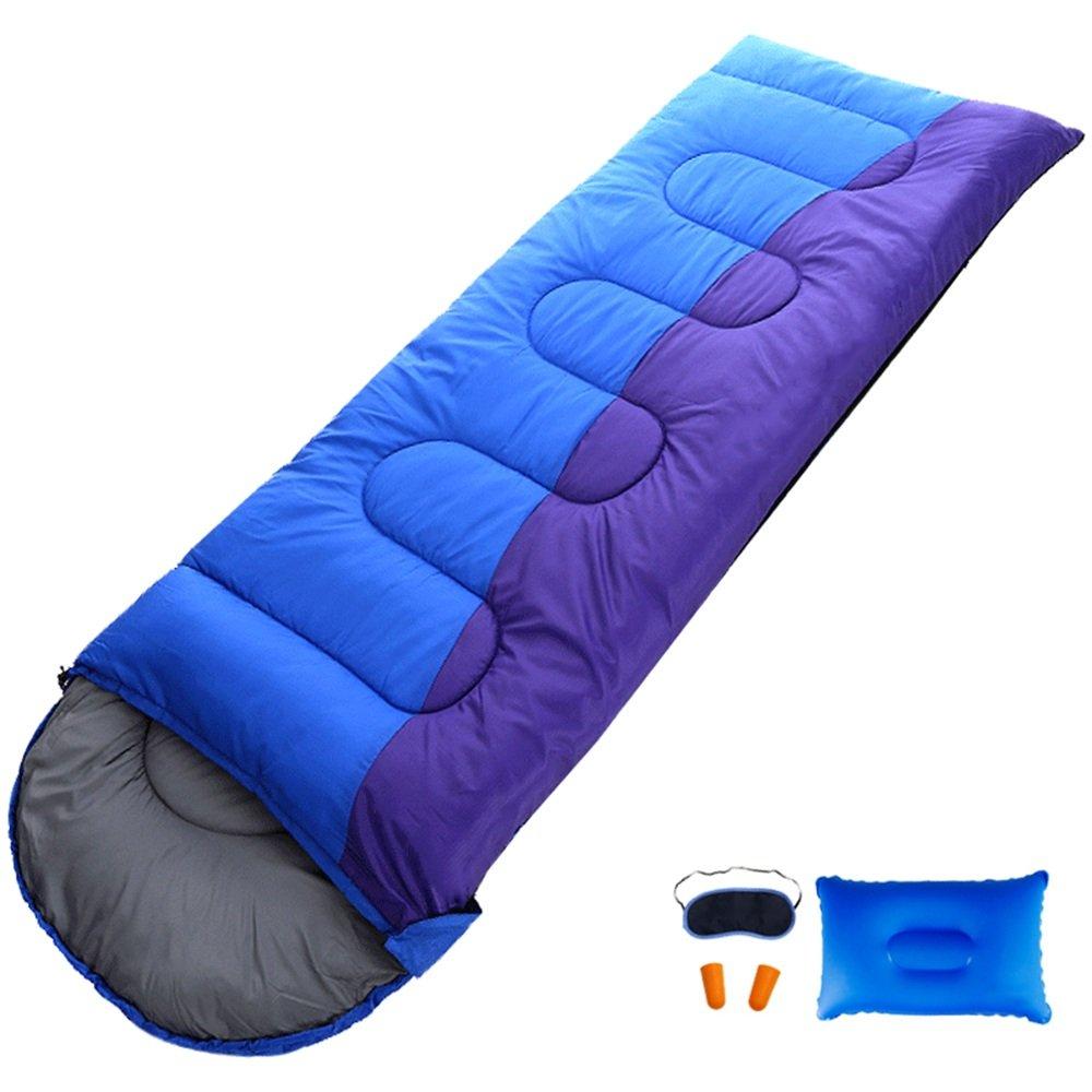QFFL shuidai Saco de dormir con sobre/con almohada/al aire libre/ideal para 4 estaciones que acampan que camina bolso de dormir rectangular (180 + 35) ...
