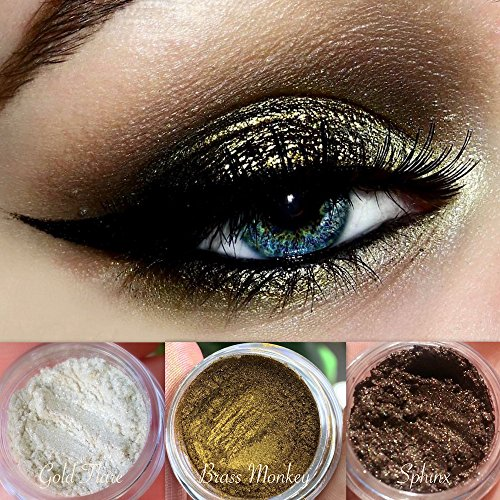 """Vegan Eyeshadow Palette   All Natural Mineral Makeup   Cruelty Free Cosmetics   Get this Look Trio """"BEWITCHING HOUR""""   Look Good, Feel Good Naturally with Addictive - To Jenner How Style Get Kylie"""