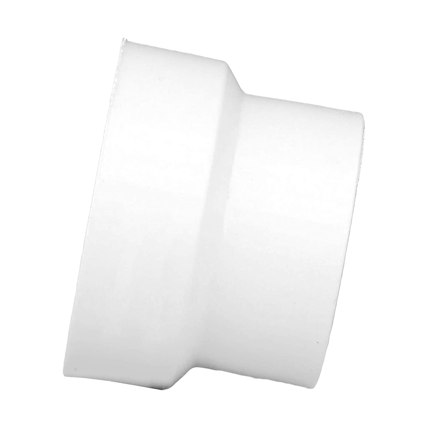 Schedule 40 PVC DWV and High Tensile for Home or Industrial Use Drain, Waste and Vent Durable Hub x Spigot Single Unit Easy to Install Charlotte Pipe 2 X 1-1//2 Flush Bushing Pipe Fitting -