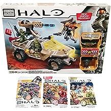 Mega Bloks Halo Bundle - UNSC Night Ops Gausshog (97134) + Series 7, Series 8 & Series 9 Blind Bags (1 Pack of Each)