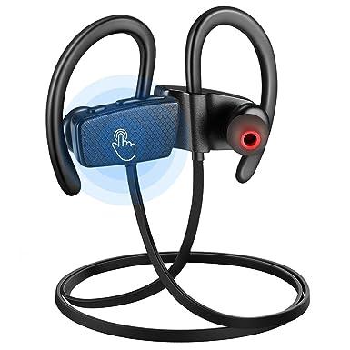 Auriculares inalámbricos con micrófono con Bluetooth táctil, doble chip CSR, cancelación de ruido,