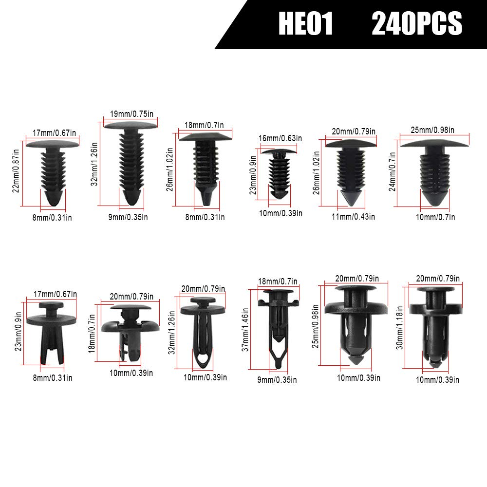 MAXTUF 350pcs Car Retainer Clips /& Plastic Fasteners Kit Trim Clips Removal Tool Kits Special Car Fender Bumper Clips Push Clips Screw Universal for Toyota Honda Lexus All car