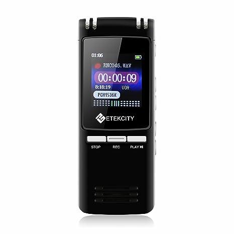 Etekcity portátil Batería Digital Audio grabadora de Voz ...