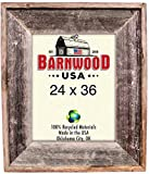 Cheap BarnwoodUSA Reclaimed Artisan Picture Frame (24×36, Weathered Gray)