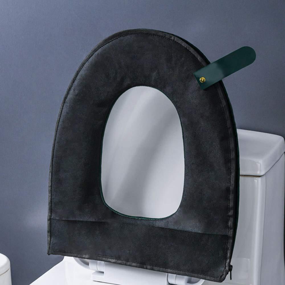vert Salamoph Housse de si/ège de toilette universelle en polaire lavable avec fermeture /Éclair