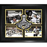Frameworth Sports Pittsburgh Penguins - 2016 Stanley Cup 4-Player Logo Framed Print Photograph, 16 by 20-Inch