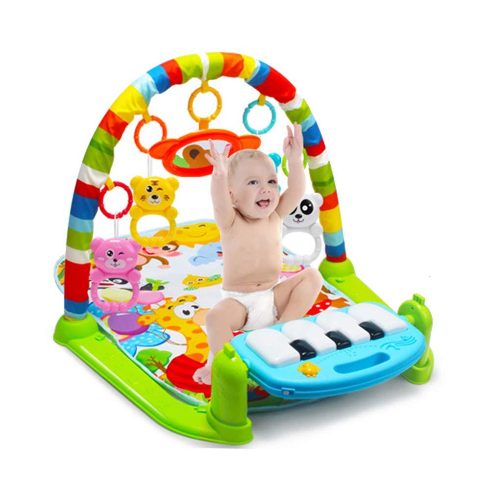 Musique et Sons Toys Pad pour ou gar/çon et Fille 0 36/Mois 60x74x42cm color/é Born b/éb/é Tapis de Jeu avec Centre dactivit/é Cozyhoma Kick et Play Piano Gym