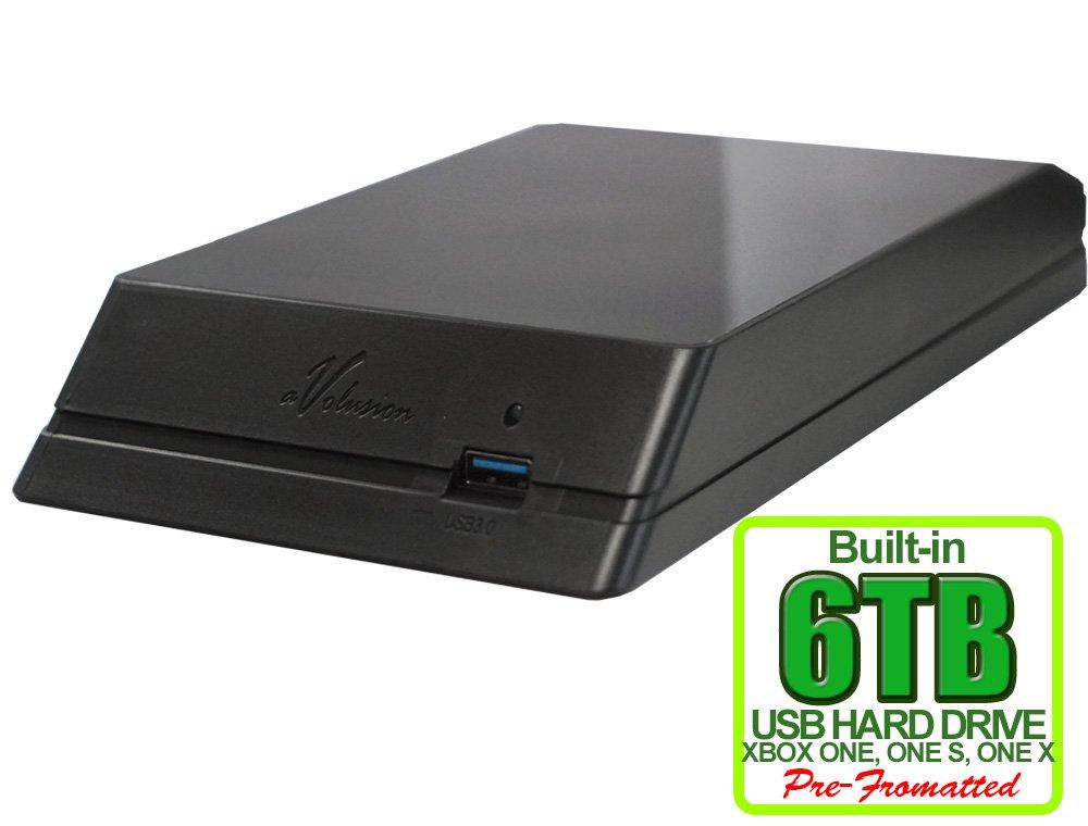 Avolusion HDDGear 6TB (6000GB) USB 3.0 External Xbox Gaming Hard Drive (Xbox Pre-Formatted) - Xbox ONE, Xbox ONE S, Xbox ONE X - 2 Year Warranty