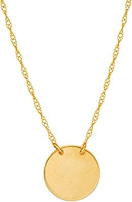 14K Yellow Gold Male Female Sign Pendant on an Adjustable 14K Yellow Gold Chain Necklace