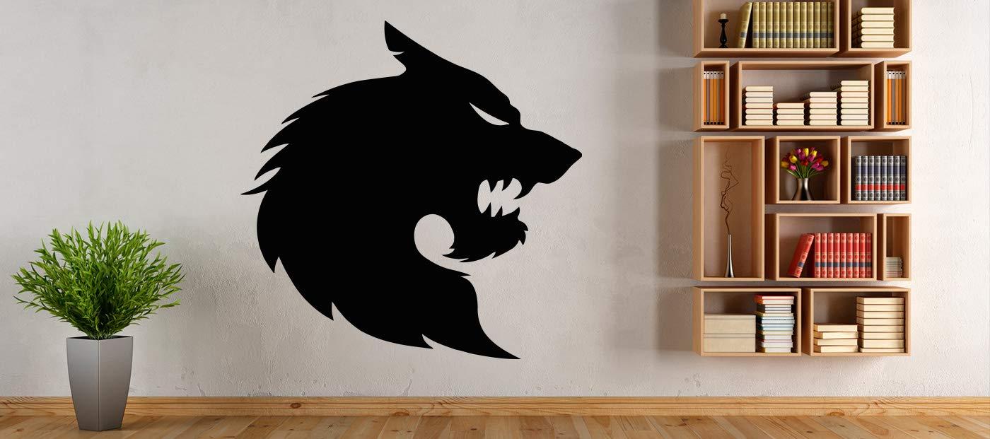 Wolf Beast Werewolf Predator Howl Animals Wall decor Wall Decal Car sticker Window Sticker Vinyl sticker Handmade6