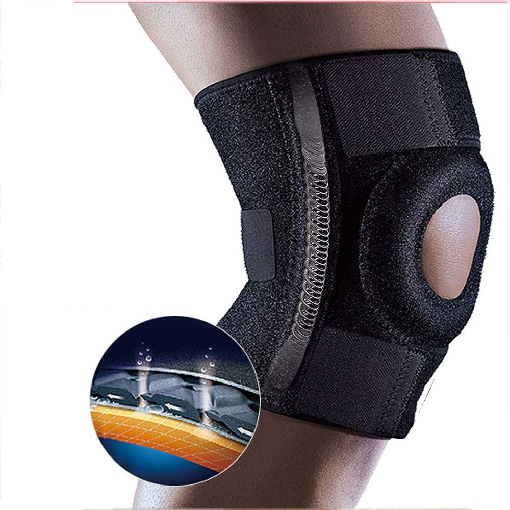 ZCF Basketball Badminton Running Sports Soccer Knee Injuries Men and Women Warm with Meniscus Knee Protectors (Color : F)