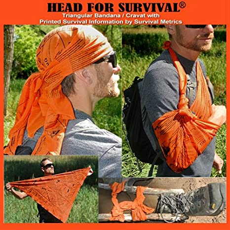 Bandana with Survival Information