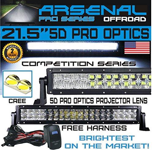 "No.1 5D 22"" Straight Pro Optics Arsenal LED Light Bar New 20"