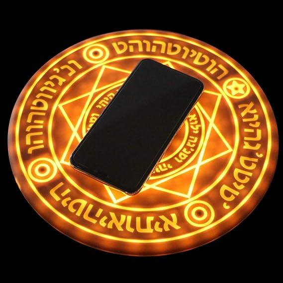 Amazon com: 10W Glowing Magic Array Universal Qi Fast Charging