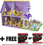 Pretty Purple Dollhouse: 3D Puzzle & Playset In One + FREE Melissa & Doug Scratch Art Mini-Pad Bundle [94610]