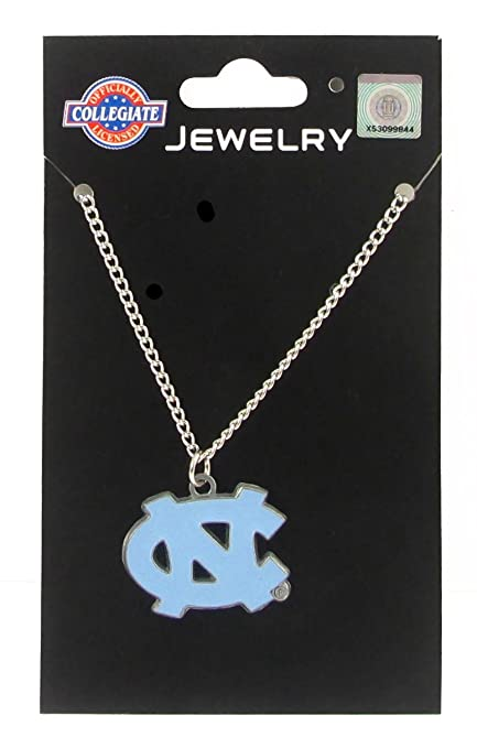 3856b640b63 Amazon.com : North Carolina Tar Heels - UNC Logo Pendant Chain Necklace -  NCAA College Athletics Fan Shop Sports Team Merchandise : Sports & Outdoors