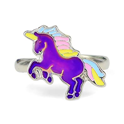 4c0dd7d5a84c Fun Jewels Fairy Tale Cute Unicorn Color Change Mood Ring for Girls Size  Adjustable