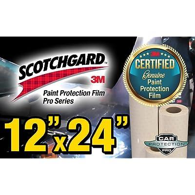 "12"" x 24"" Certified Genuine 3M Scotchgard Pro Series Paint Protection Film Bulk Roll Clear Bra Piece: Automotive"