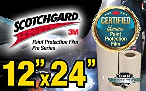 "12"" x 24"" Certified Genuine 3M Scotchgard Pro Series Paint Protection Film Bulk Roll Clear Bra Piece"