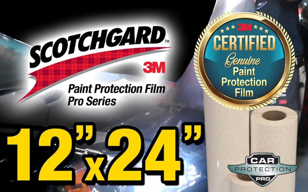 12'' x 24'' Certified Genuine 3M Scotchgard Pro Series Paint Protection Film Bulk Roll Clear Bra Piece
