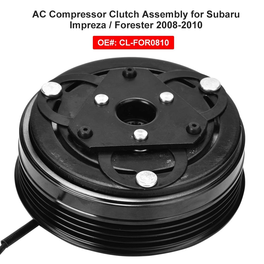 Compressor Clutch CL-FOR0810 AC Compressor Clutch Assembly Kit Fit for Subaru Impreza Forester 08-10