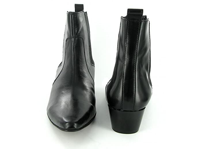 ae898d017 Gucinari ROMEO Mens Cuban Heel Winklepicker Chelsea Boots Black UK 9:  Amazon.co.uk: Shoes & Bags