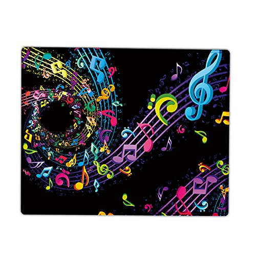 iKammo Music Note Pattern Rectangle Mouse Pad / Gaming Mat Non-slip Anti Fray Stitching Edge MousePad - Designed to fit Optical Laser Mouse (9.84