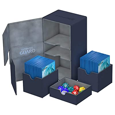 Ultimate Guard 200 Card Twin Flip N Tray Xenoskin Deck Case, Blue: Toys & Games