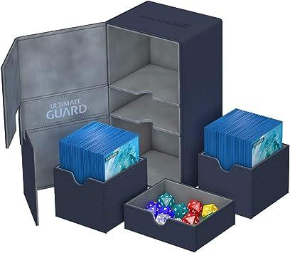 Ultimate Guard Twin Flip´n´Tray Deck Case 200+ Caja de Cartas Tamaño Estándar XenoSkin Azul: Amazon.es: Juguetes y juegos