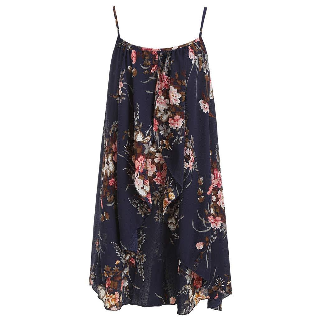 Pervobs Women Short Sleeve Tie Front Knot Loose Flowy Floral Print Mini Dress Suits
