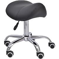 Tabouret de massage tabouret selle ergonomique pivotant 360° hauteur réglable simili cuir