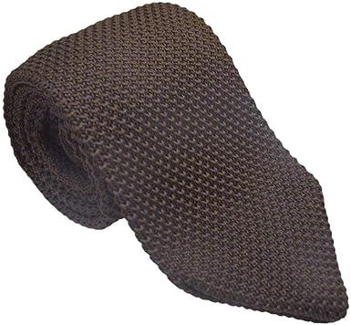 JOSVIL Corbata de Punto Marron Chocolate. Corbatas de moda y ...