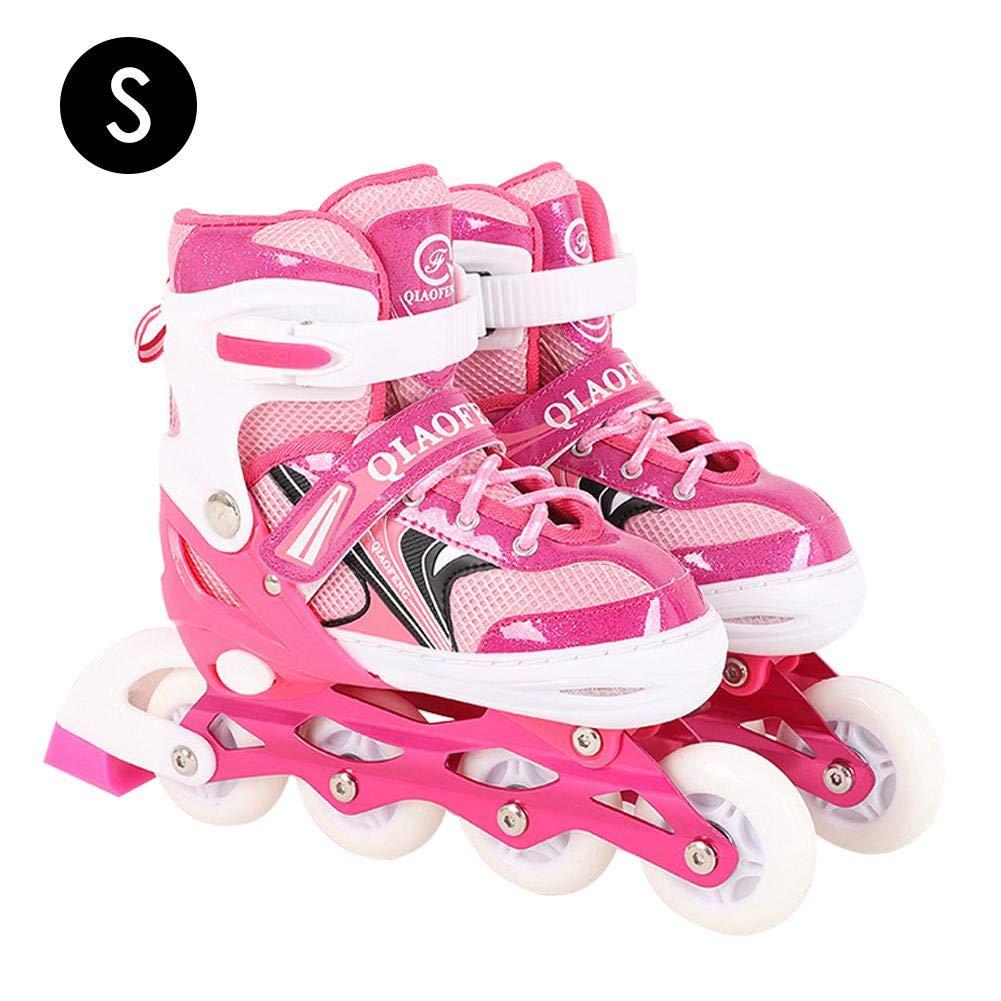 U-smile Roller Skates, Single Row Roller Skates Adjustable Size for Women and Girls