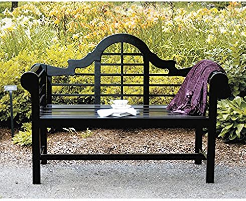 Achla Designs Ofb 11 Lutyens Indoor Outdoor Garden Bench Black 4 Ft Amazon Sg Lawn Garden