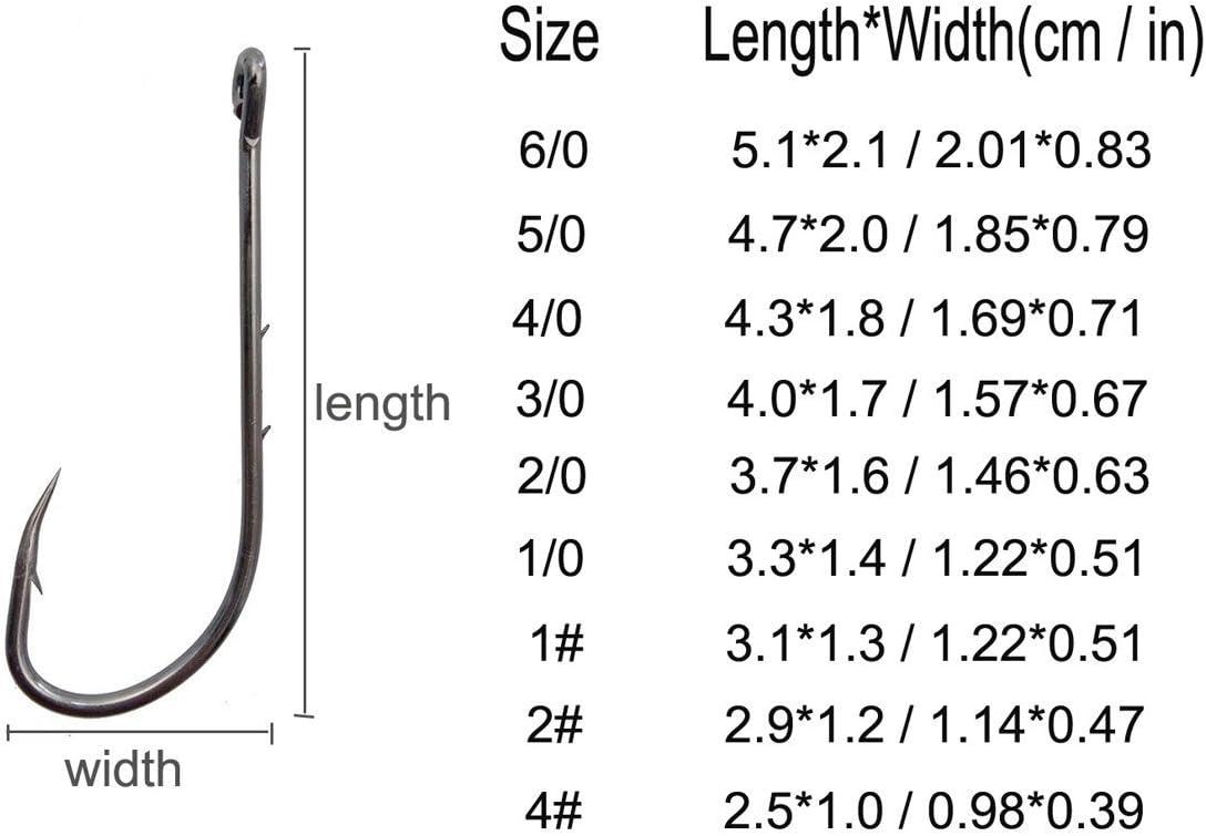 25 Size 6//0 Custom Offshore Tackle Offset J Octopus Hooks 8299
