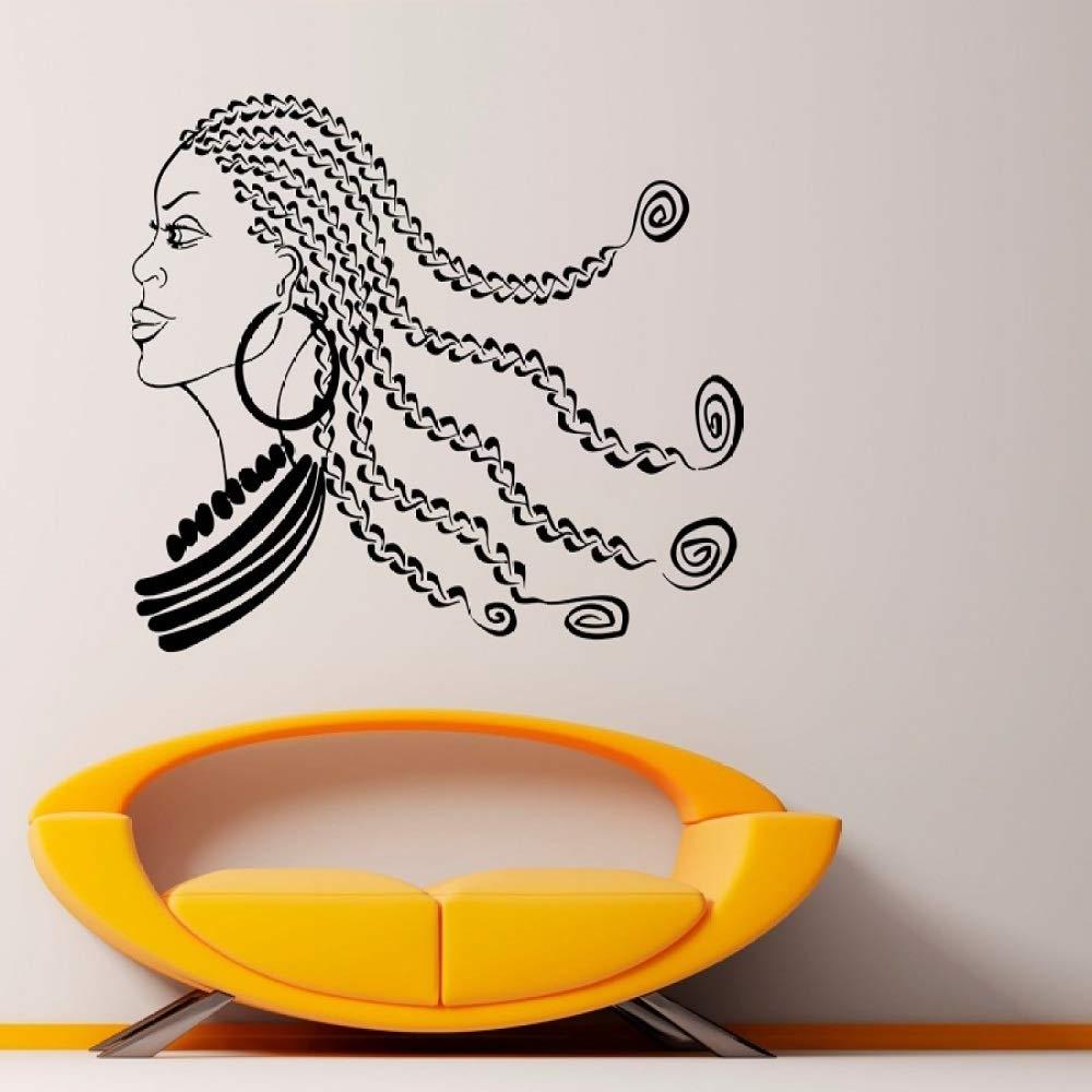zqyjhkou Chica Africana Tatuajes de Pared Vinilos Decorativos de ...