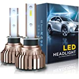 H1 LED Headlight Bulb, Lavmar 40W 6000K 9000 Lumens Cool White CSP Chip All-in-one LED Conversion Kit Adjustable Beam