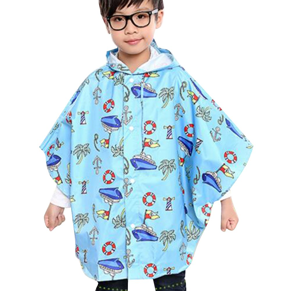 Deylay Impermeabile in Stile Cape Cute Cartoon con Cappuccio Poncho Bambini per gli Studenti (Beige Animali) S / 80-90 Deylay Network Technology Ltd N160513R-D01