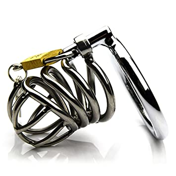 Amazon.com: Candado de metal para pene, anillo de arco de ...