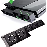 PS4 Cooling Fan,YUDEG Super Cooling Fan for PS4 Cooler External Turbo Temperature Control for Playstation PS4 Host Cooler PS4 smart thermostat fan