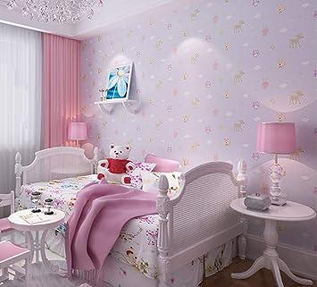 Amazon.com: Non-Woven Wallpaper Cute Little Animal Cartoon ...