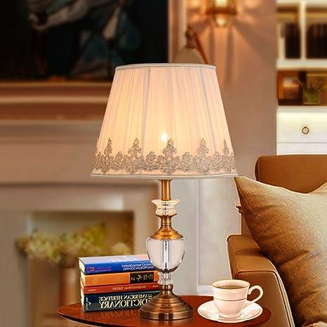 Amazon.com: Lámparas de mesa lámpara de mesa de vidrio ...