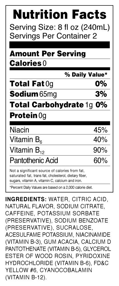Hydrive Energy Water | Citrus Burst | Sugar Free | Zero Calories | All Natural Flavors | Natural Energy | 16 oz (Pack of 12) by Hydrive (Image #3)