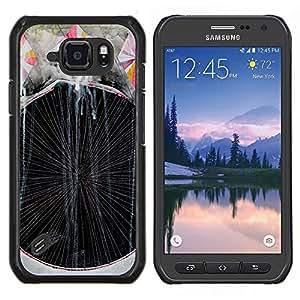 LECELL--Funda protectora / Cubierta / Piel For Samsung Galaxy S6Active Active G890A -- Arte de la pintura Líneas Rayas --
