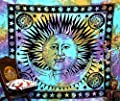 Psychedelic Celestial Indian Sun Hippie Hippy Tapestry Wall Hanging Throw Tie Dye Hippie Hippy Boho Bohemian Tye Die tapestry