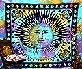 Psychedelic Celestial Indian Sun Hippie Hippy Tapestry Wall Hanging Throw Tie Dye Hippie Hippy Boho Bohemian Tye Die tapestry