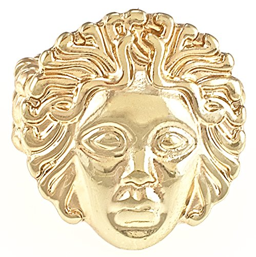 Face Stretch Fashion Ring (GWOOD Medusa Face Ring Gold Color With Stretch Band)