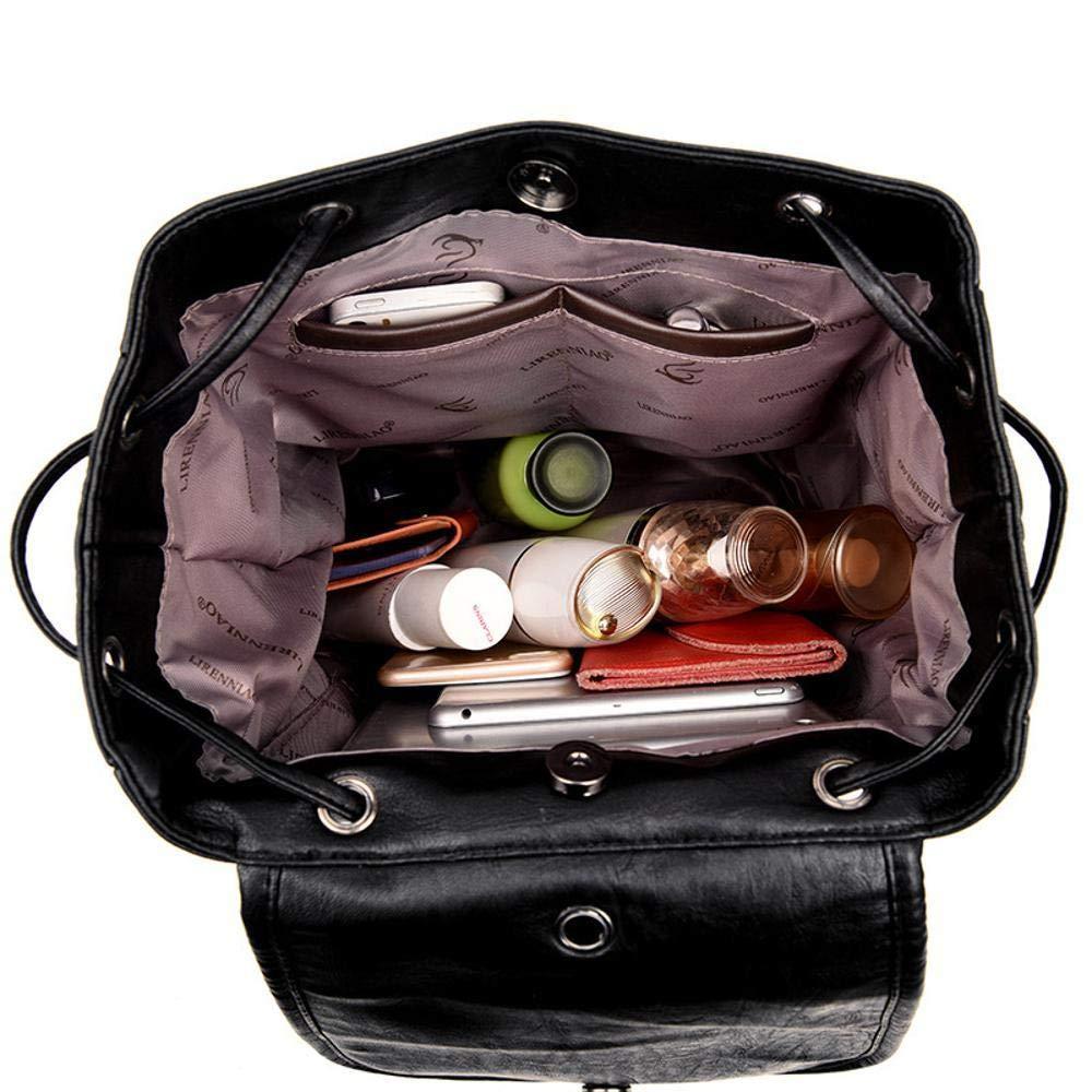 Sxuefang Women Leather Backpack Multi-Function Backpack Shoulder Bag Handbag Fashion Chest Bag 29x17x32cm